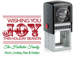 More Than Paper - Custom Self-Inking Stamps (Wishing You Joy)