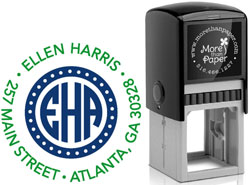 More Than Paper - Custom Self-Inking Stamps (Circle Monogram)