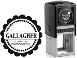 More Than Paper - Custom Self-Inking Stamps (Scallop Border)