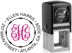 More Than Paper - Custom Self-Inking Stamps (Script Monogram)