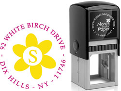 More Than Paper - Custom Self-Inking Stamps (Sunflower Initial)