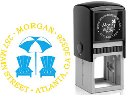 More Than Paper - Custom Self-Inking Stamps (Beach)