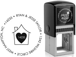 More Than Paper - Custom Self-Inking Stamps (Heart In The Home)