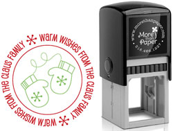 More Than Paper - Custom Self-Inking Stamps (Mittens)