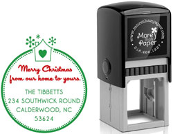 More Than Paper - Custom Self-Inking Stamps (Merry Christmas)