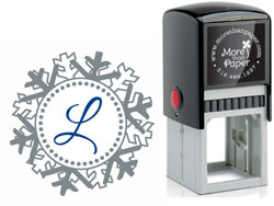 More Than Paper - Custom Self-Inking Stamps (Snowflake Initial)
