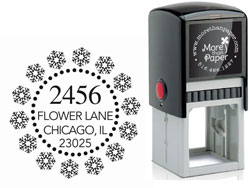 More Than Paper - Custom Self-Inking Stamps (Dotted Snowflake)