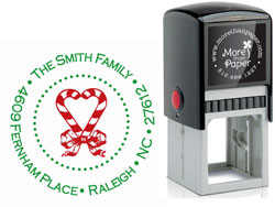 More Than Paper - Custom Self-Inking Stamps (Candy Cane)