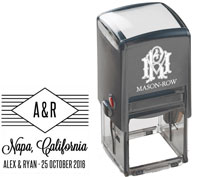 Mason Row - Square Self-Inking Stamp (Alex)