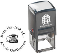 Mason Row - Square Self-Inking Stamp (Alexis)
