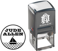 Mason Row - Square Self-Inking Stamp (Allen)