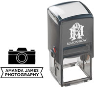 Mason Row - Square Self-Inking Stamp (Amanda)