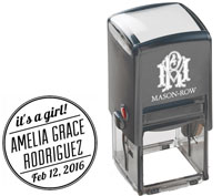 Mason Row - Square Self-Inking Stamp (Amelia)