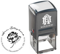 Mason Row - Square Self-Inking Stamp (Ann)