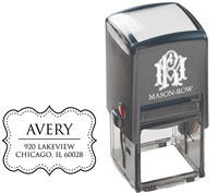 Mason Row - Square Self-Inking Stamp (Avery)