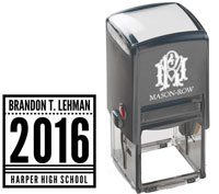 Mason Row - Square Self-Inking Stamp (Brandon)