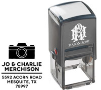Mason Row - Square Self-Inking Stamp (Charlie)