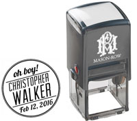 Mason Row - Square Self-Inking Stamp (Christopher)