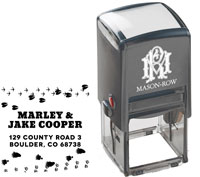 Mason Row - Square Self-Inking Stamp (Cooper)