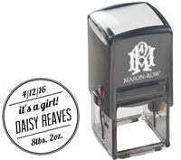 Mason Row - Square Self-Inking Stamp (Daisy)