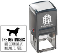 Mason Row - Square Self-Inking Stamp (Dentinger)