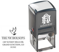 Mason Row - Square Self-Inking Stamp (Dove)