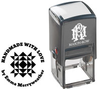 Mason Row - Square Self-Inking Stamp (Emma)