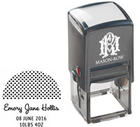 Mason Row - Square Self-Inking Stamp (Emory)