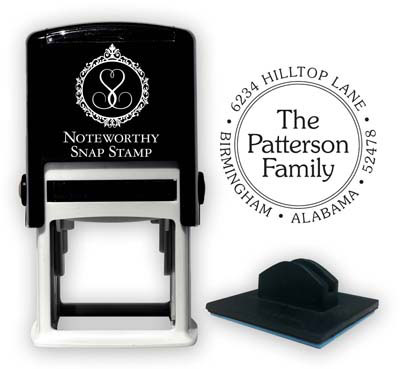 Noteworthy Collections - Custom Self-Inking Address Stampers (Traditional Family Name)