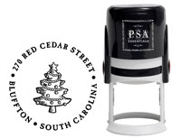 PSA Essentials - Custom Address Stamper (Christmas Tree - Holiday)