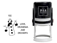 PSA Essentials - Custom Address Stamper (Earmuffs Tag - Holiday)