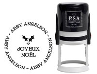 PSA Essentials - Custom Address Stamper (Joyeux Noel - Holiday)