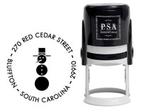 PSA Essentials - Custom Address Stamper (Retro Snowman - Holiday)