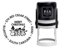 PSA Essentials - Custom Address Stamper (Snow Family - Holiday)