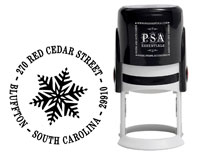 PSA Essentials - Custom Address Stamper (Snowflake - Holiday)