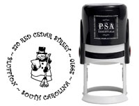 PSA Essentials - Custom Address Stamper (Snowman - Holiday)
