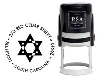 PSA Essentials - Custom Address Stamper (Star of David - Holiday)