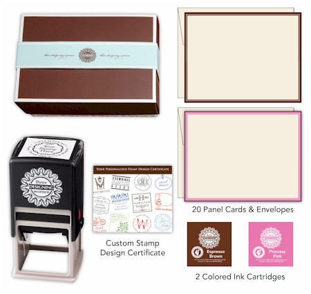 Three Designing Women  - Custom Stamper Desk Set Gift Certificate (Taylor)