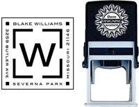 Three Designing Women - Custom Self-Inking Stamps #CS-3608
