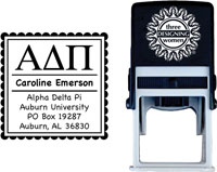 Three Designing Women - Custom Self-Inking Stamps #CS-8001 (Alpha Delta Pi Sorority)