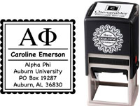 Three Designing Women - Custom Self-Inking Stamps #CS-8001 (Alpha Phi Sorority)