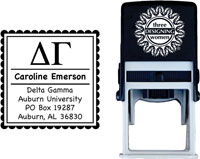 Three Designing Women - Custom Self-Inking Stamps #CS-8001 (Delta Gamma Sorority)