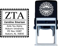 Three Designing Women - Custom Self-Inking Stamps #CS-8001 (Zeta Tau Alpha Sorority)