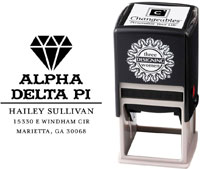 Three Designing Women - Custom Self-Inking Stamps #CS-8004 (Alpha Delta Pi Sorority)