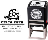 Three Designing Women - Custom Self-Inking Stamps #CS-8004 (Delta Zeta Sorority)
