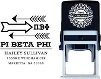 Three Designing Women - Custom Self-Inking Stamps #CS-8004 (Pi Beta Phi Sorority)