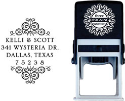 Three Designing Women - Custom Self-Inking Stamps #CS-A10010S