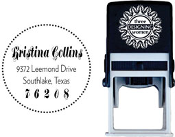 Three Designing Women - Custom Self-Inking Stamps #CS-A10020S