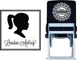 Three Designing Women - Custom Self-Inking Stamps #CS-C10002S