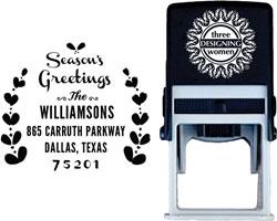 Three Designing Women - Custom Self-Inking Stamps #CS-H10004S